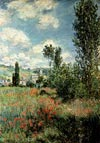 Path through the poppies by Monet