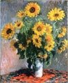 Still Life with Sunflowers by Monet